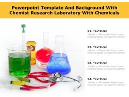 Powerpoint Template And Background With Chemist Research Laboratory With Chemicals