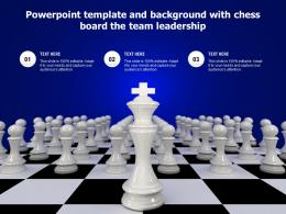 Powerpoint Template And Background With Chess Board The Team Leadership