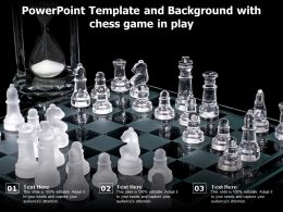 Powerpoint Template And Background With Chess Game In Play