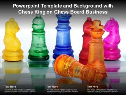 Powerpoint Template And Background With Chess King On Chess Board Business