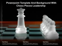 Powerpoint Template And Background With Chess Pieces Leadership