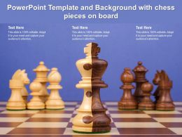 Powerpoint Template And Background With Chess Pieces On Board