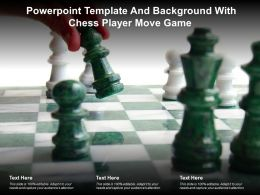 Powerpoint Template And Background With Chess Player Move Game