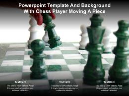 Powerpoint Template And Background With Chess Player Moving A Piece