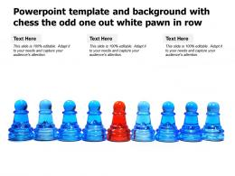 Powerpoint Template And Background With Chess The Odd One Out White Pawn In Row