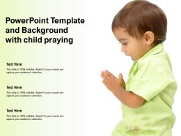 Powerpoint Template And Background With Child Praying