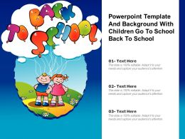 Powerpoint Template And Background With Children Go To School Back To School