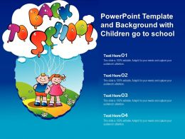 Powerpoint Template And Background With Children Go To School