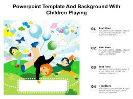 Powerpoint Template And Background With Children Playing