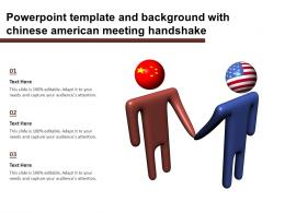 Powerpoint Template And Background With Chinese American Meeting Handshake