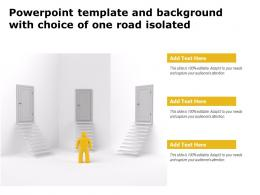 Powerpoint Template And Background With Choice Of One Road Isolated