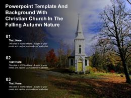 Powerpoint Template And Background With Christian Church In The Falling Autumn Nature