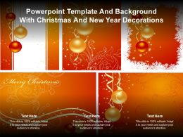 Powerpoint Template And Background With Christmas And New Year Decorations