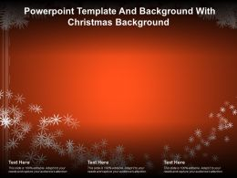 Powerpoint Template And Background With Christmas Background