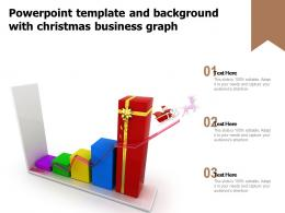 Powerpoint Template And Background With Christmas Business Graph