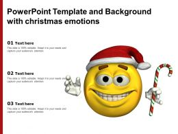 Powerpoint Template And Background With Christmas Emotions