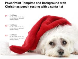 Powerpoint Template And Background With Christmas Pooch Resting With A Santa Hat