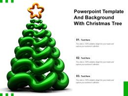 Powerpoint Template And Background With Christmas Tree
