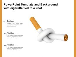 Powerpoint Template And Background With Cigarette Tied To A Knot
