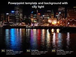 Powerpoint Template And Background With City Light