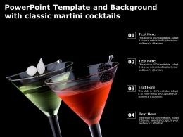 Powerpoint Template And Background With Classic Martini Cocktails