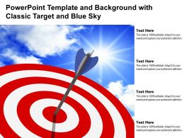 Powerpoint Template And Background With Classic Target And Blue Sky