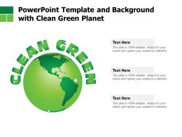 Powerpoint Template And Background With Clean Green Planet