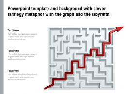 Powerpoint Template And Background With Clever Strategy Metaphor With The Graph And The Labyrinth