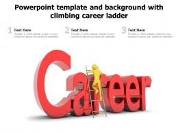 Powerpoint Template And Background With Climbing Career Ladder