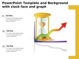 Powerpoint Template And Background With Clock Face And Graph