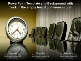 Powerpoint Template And Background With Clock In The Empty Board Conference Room