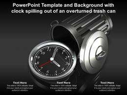 Powerpoint Template And Background With Clock Spilling Out Of An Overturned Trash Can