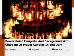 Powerpoint Template And Background With Close Up Of Prayer Candles In The Dark