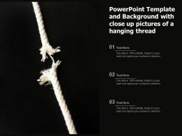 Powerpoint Template And Background With Close Up Pictures Of A Hanging Thread