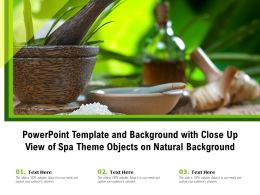 Powerpoint Template And Background With Close Up View Of Spa Theme Objects On Natural Background