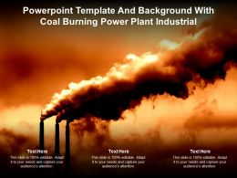 Powerpoint Template And Background With Coal Burning Power Plant Industrial