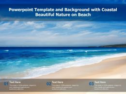 Powerpoint Template And Background With Coastal Beautiful Nature On Beach