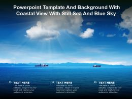 Powerpoint Template And Background With Coastal View With Still Sea And Blue Sky
