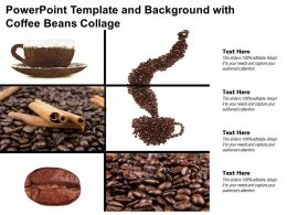 Powerpoint Template And Background With Coffee Beans Collage