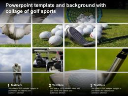Powerpoint Template And Background With Collage Of Golf Sports