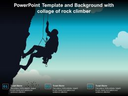 Powerpoint Template And Background With Collage Of Rock Climber