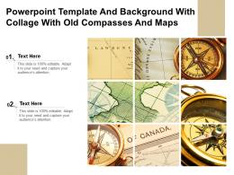 Powerpoint Template And Background With Collage With Old Compasses And Maps