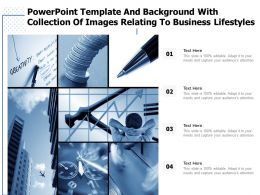 Powerpoint Template And Background With Collection Of Images Relating To Business Lifestyles