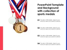 Powerpoint Template And Background With Collection Of Sports Medals