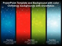 Powerpoint Template And Background With Color Christmas Backgrounds With Snowflakes