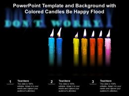 Powerpoint Template And Background With Colored Candles Be Happy Flood