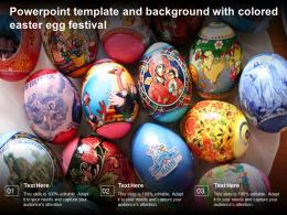 Powerpoint Template And Background With Colored Easter Egg Festival