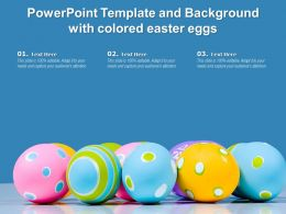 Powerpoint Template And Background With Colored Easter Eggs