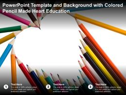 Powerpoint Template And Background With Colored Pencil Made Heart Education
