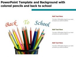 Powerpoint Template And Background With Colored Pencils And Back To School